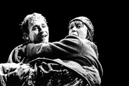 Eric Ruf et martine Bertrand dans Peer Gynt 1996